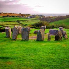 Drombeg Stone Circle, Glandore, County Cork, Ireland c. 1100 - 800 BC.