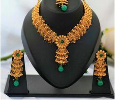 Designer Temple Neckless | Buy Online Jewellery | Elegant Fashion Wear Price;2000 #latest #exclusive #neckles