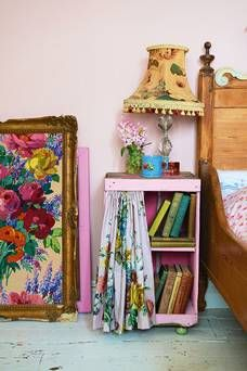 bedside table  featured in Vintage Home by Sarah Moore, photography by Debi Treloar, published by Kyle Book...