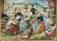 It's About Time: Sewing in the Garden - Illuminated Manuscript 16013