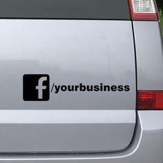 Facebook Stickers For Business UK Products Pinterest Products - Car window decals for business uk