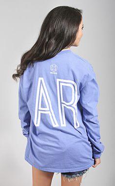 charlie southern: retro state long sleeve [arkansas] - blue