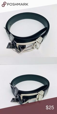 Men's Reversible Belt Black/Green Silver Buckle Men's Reversible Fashion Belt  Color: Black/Green Brand: Empire  Silver Buckle  Sizes 32 - 44 Faux Leather / Man Made Style 600REV Made in China Empire Accessories Belts