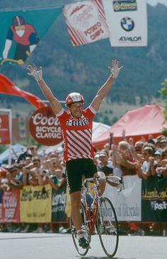 Davis Phinney finish line victory of Coors Classic 1988