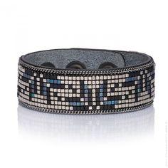 Bracelet Yuma cuir Hypnotik silver