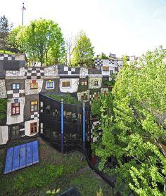 Backside of the KUNST HAUS WIEN   Friedensreich Hundertwasser  http://www.kunsthauswien.com