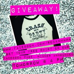 Free shirt, giveaway, luke bryant, crash my party anytime, www.facebook.com/rocknmama to enter ends 11/7/14 @ 4pm I Party, Giveaway, You Got This, Facebook, Rock, Shirt, Free, Dress Shirt, Skirt