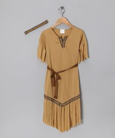 Paper Magic Tan Native American Beauty Dress-Up Set - Kids | zulily