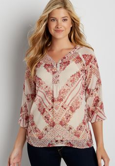 the perfect blouse in floral print (original price, $29.00) available at #Maurices