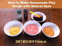 How to Make Homemade Play Dough with Natural Dyes - Don't Mess with Mama