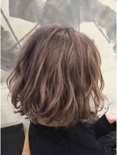 コキャンコレット(COQUIN colette) グレージュふんわりボブ Like the colour and style Short Bob Hairstyles, Diy Hairstyles, Pretty Hairstyles, Short Curls, Short Wavy Hair, Love Hair, Gorgeous Hair, Unordentlicher Bob, Medium Hair Styles