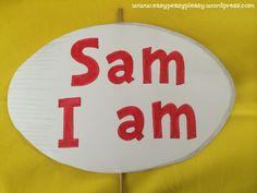 Dr. Seuss Sam I am sign closeup