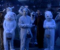 The Easter Bunny - The residents in bunny costumes-vicar of dibley