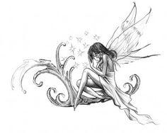 Fairy tattoo design