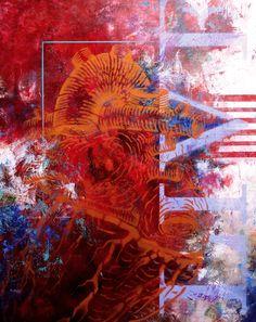 Corazón  81 cm. x 65 cm. técnica mixta / lienzo 2014  Heart  31 in x 25 in about  mixed technical / canvas 2014