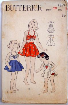 40's swimwear. Would my girls wear these? I think they'd be cute. We'll have to see I guess. ;)