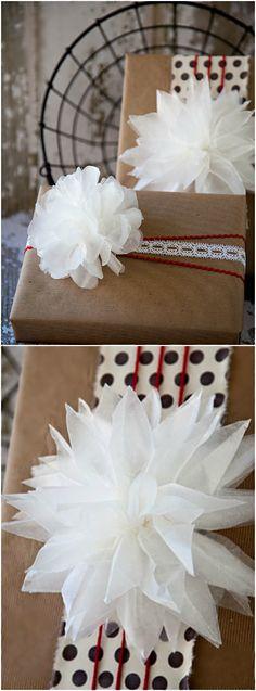 Holiday ● DIY ● Tutorial ● Wax Paper Bow