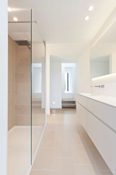 Balbek limestone wall and floor tiles used to create a bathroom with a spa feel. Natural Stone Bathroom, Natural Stone Flooring, Natural Stones, Limestone Wall, Master Bedroom Bathroom, Hotel Interiors, Wall And Floor Tiles, Wet Rooms, Patio Dining