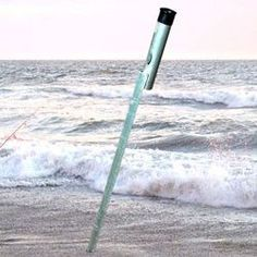 Beach fishing rod holder sand spike designed to hold your fishing rod firmly in the sand and lets you enjoy your surf fishing day from a chair. Beach Fishing Cart, Surf Fishing Rods, Fishing Pole Holder, Surf Rods, Pole Holders, Fishing Girls, Best Fishing, Fishing Rod Brands, Fishing Umbrella