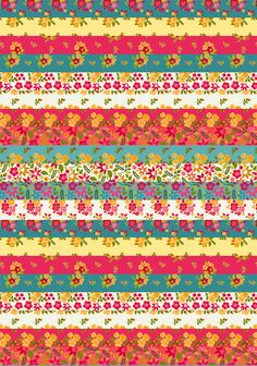 Printable background scrap craft or decoupage papers – Hawaiian florals (+ Freebie!) | Mels Brushes