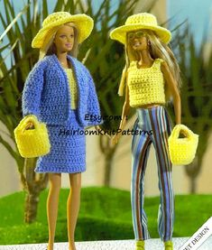 Barbie Clothes Crochet Pattern Jacket par HeirloomKnitPatterns