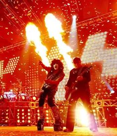 I went to my 100th KISS concert with Heath. Man he loved that show. As I know Ace Frehley, Paul and Gene will probably sue me for using this photo. Just Jokering!