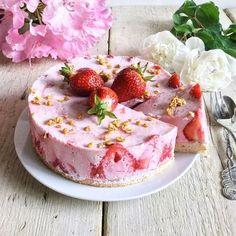 Erdbeer-Quark-Kuchen mit Xucker