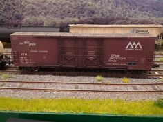 A well weathered HO freight car on Shan Crabtree's Virginia Midland RR.