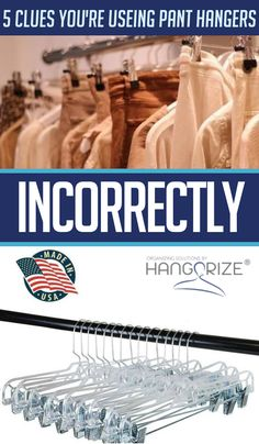 Something as simple as using pants hangers incorrectly can seriously damage your clothes. No Closet Solutions, Small Space Solutions, Storage Solutions, Small Closet Organization, Life Organization, Clothing Organization, Clothing Racks, Bedroom Organization, Plumbing Pipe Furniture