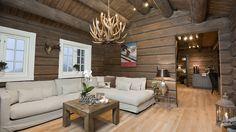 Gjennomgående meget høy standard og fin planløsning. Home Design Decor, House Design, Interior Design, Home Decor, Cabin Homes, Log Homes, Cabana, Living Room Decor, Living Spaces