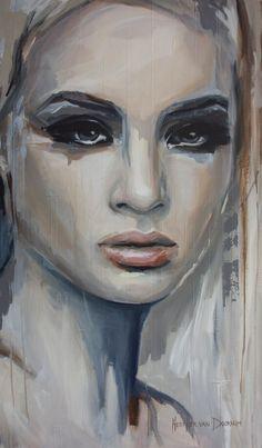 """Saatchi Art Artist: Hesther Van Doornum; Acrylic 2013 Painting """"Aubade"""""""