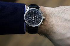 frederique constant manufacture chronograph flyback wristshot