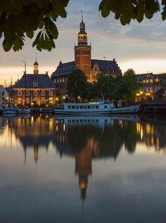 Rathaus and Harbor Reflection. Leer, Ostfriesland, Germany -Photo by Erik Pronske Beautiful Places To Visit, Wonderful Places, Beautiful World, Great Places, Beautiful Scenery, Places Around The World, Oh The Places You'll Go, Places To Travel, Around The Worlds