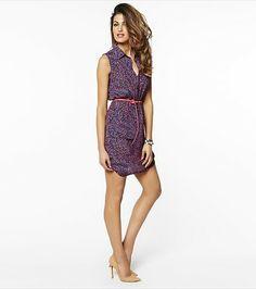 Dress it up with this fabulous printed shirt dress! Work Fashion, Fashion Beauty, Fashion Outfits, Womens Fashion, Weekend Dresses, Summer Dresses, Summer Outfits, Material Girls, Beautiful Dresses