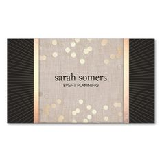 44 best business cards for event planners and wedding planners stylish event planner chic gold confetti linen business card colourmoves
