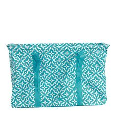 Loving this Blue Floral Geometric Organizer Tote on #zulily! #zulilyfinds