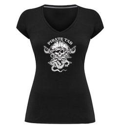 Skallywag Pirate Tar Coffee http://skallywag.us/store/pirate-tar-tee-womens