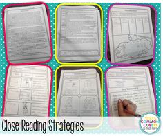 Reading Strategies (Learning Lab Resources) Close Reading Strategies - Common Core and So Much MoreClose Reading Strategies - Common Core and So Much Close Reading Strategies, Reading Resources, Reading Activities, Reading Skills, Guided Reading, Teaching Reading, Teaching Ideas, Teaching Materials, Learning