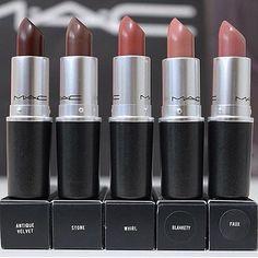Improve makeup with these best mac makeup Pic# 1694 Best Mac Lipstick, Mac Lipstick Swatches, Best Mac Makeup, Lipstick Shades, Love Makeup, Mac Lipsticks, Nyx Lip, Makeup Goals, Makeup Tips