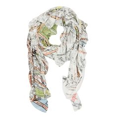 London Map Scarf: Our gorgeous map print scarves are back by popular demand! All are hand screen printed to achieve the depth of colour and pattern and the model and viscose mix fabric makes them absolutely wonderful to wear. The perfect accessory to brighten up any outfit. This London street map is subtle yet iconic.
