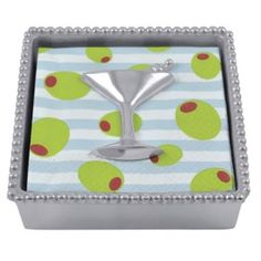 Even your cocktail napkins can join in on the festivities.  Cocktail Napkin Box by Mariposa