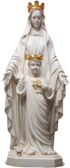 Amazon.com: Blessed Virgin Mother Mary of The Sacred Heart 34 Inch Outdoor Garden Statue: Kitchen & Dining Outdoor Garden Statues, Catholic Gifts, Mother Mary, Sacred Heart, Blessed, Virgin Mary, Blessed Virgin Mary, Mama Mary