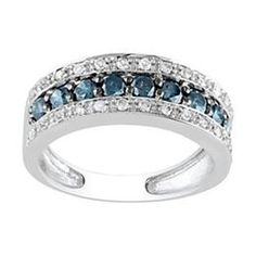 Blue diamond band Blue Diamond Jewelry, Diamond Bands, Law Enforcement, Wedding Bands, Bling, Wedding Ideas, Engagement Rings, My Style, Products