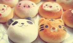 tiger and panda buns