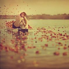 when you fall in love its like rowing out on to a lake with only that person, trusting neither of you will let the other drown #boatonlakequotes