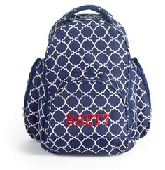 Oh Baby! Backpack - Navy Tile - Initials Inc. Insulated Siding, Initials Inc, Baby Backpack, Home Based Business, Changing Pad, Diaper Bag, Fall Winter, Backpacks, Navy