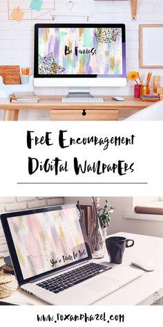 Free Encouragement Desktop Wallpaper - Fox & Hazel