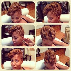 My new favorite, fast and easy hairdo. #naturalhair #locs #locstyle #dreads