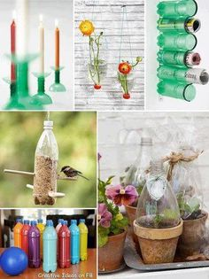 The recycled bottle terrarium combines the Earth Day project with the Mother's gift … - Diy Craft Ideas Recycled Crafts, Diy Crafts, Bottle Terrarium, Bottle Bottle, Terrariums, Earth Day Projects, Plastic Bottle Crafts, Recycled Bottles, Plastic Recycling