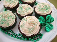 Drunken Irish Cupcakes